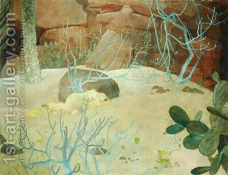 A Garden in the Desert, c.1922 by Glyn Warren Philpot - Reproduction Oil Painting