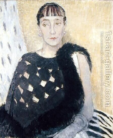 Mrs Clement Cross, the Artists Elder Sister, 1934 by Glyn Warren Philpot - Reproduction Oil Painting
