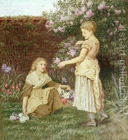 In a Garden by Constance Phillott - Reproduction Oil Painting