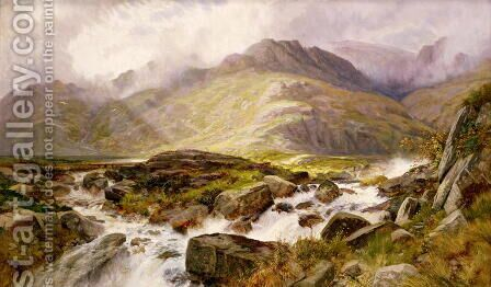 The Glyder Fawr from Pen-y Ben Glog, 1876 by Edwin Pettitt - Reproduction Oil Painting