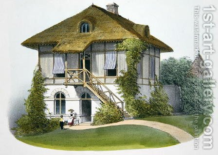 A House at Enghien, illustration from Habitations Champetres published Paris, c.1895 by (after) Petit, Victor Jean-Baptiste - Reproduction Oil Painting