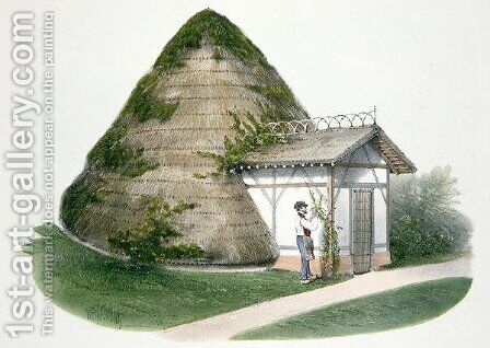 The Ice-house at Courbeton, illustration from Habitations Champetres published Paris, c.1895 by (after) Petit, Victor Jean-Baptiste - Reproduction Oil Painting