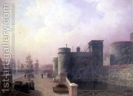 Traitors Gate, Tower of London by Henry Pether - Reproduction Oil Painting
