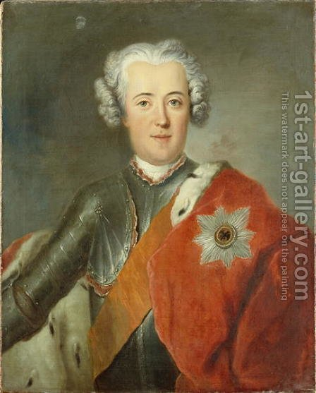Crown Prince Frederick II, c.1740 by Antoine Pesne - Reproduction Oil Painting