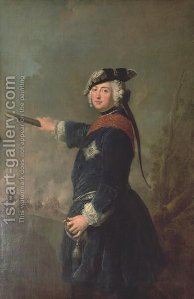 King Frederick II the Great of Prussia 1712-86 1746 by Antoine Pesne - Reproduction Oil Painting
