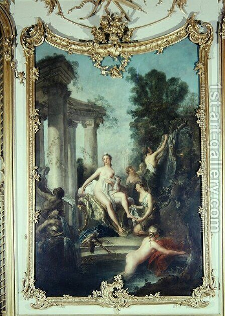 Diana and her Nymphs Bathing, 1747 by Antoine Pesne - Reproduction Oil Painting