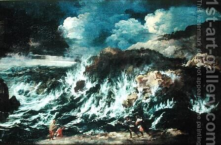The Storm, before 1700 by Antonio Francesco Peruzzini - Reproduction Oil Painting