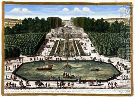 The Cascades at Sceaux, from Vues des belles maisons de France, published 1680 by Adam Perelle - Reproduction Oil Painting