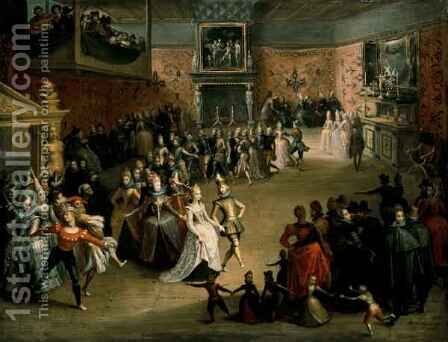 The Court Ball, 1604 by Martin Pepyn or Pepin - Reproduction Oil Painting