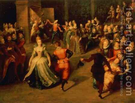 The Ball by Martin Pepyn or Pepin - Reproduction Oil Painting