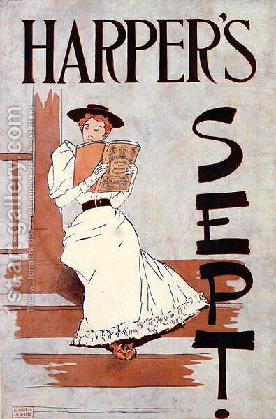 Harpers Sept., 1896 by Edward Penfield - Reproduction Oil Painting