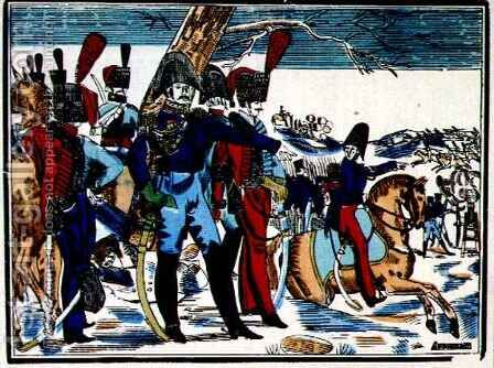 The Retreat from Russia, 1815 from Edition de la Revue Lorraine Illustree, engraved by Antoine Reveille 1788-1870, pub. 1912 by (after) Pellerin, Jean-Charles - Reproduction Oil Painting