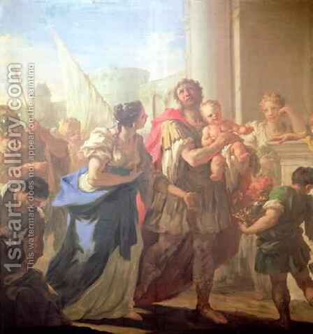 Hector and Andromache, c.1708-10 by Giovanni Antonio Pellegrini - Reproduction Oil Painting