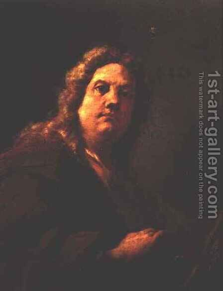 Self Portrait, 1716-17 by Giovanni Antonio Pellegrini - Reproduction Oil Painting