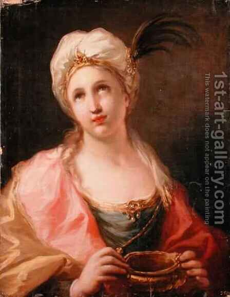 Artemisia by Giovanni Antonio Pellegrini - Reproduction Oil Painting