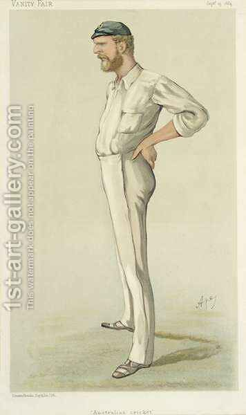 Australian Cricket, cartoon from Vanity Fair, September 13th 1884 by Carlo ('Ape') Pellegrini - Reproduction Oil Painting
