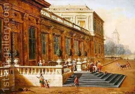 The Return of the Prodigal Son on the Steps of a Classical Palace by Jacob Balthasar Peeters - Reproduction Oil Painting