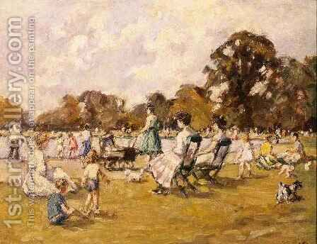 Summer Afternoon by the Serpentine by Beatrice Stella Pedder - Reproduction Oil Painting