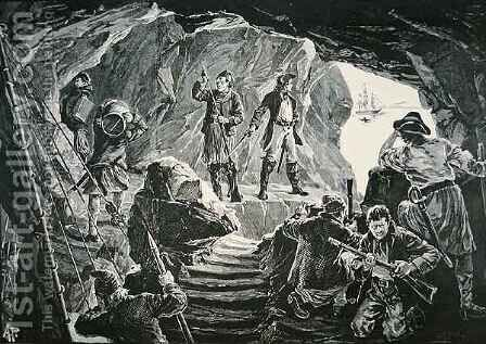 The Smugglers Cave by Alfred Pearse - Reproduction Oil Painting