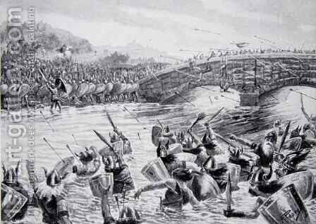 The Battle of Maldon, 991, illustration from the book The History of the Nation by Alfred Pearse - Reproduction Oil Painting