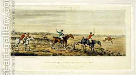 Symptoms of a Scurry, The Leicestershires, engraved by Henry Alken 1785-1851 1825 by (after) Paul, John Dean - Reproduction Oil Painting