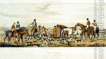 The Death, The Leicestershires, engraved by Henry Alken 1785-1851 1825 by (after) Paul, John Dean - Reproduction Oil Painting