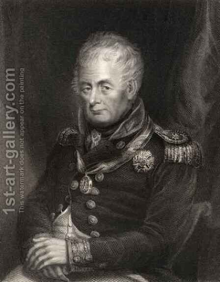 Admiral William Carnegie, engraved by Henry Cook, from 'National Portrait Gallery, volume III, published c.1835 by (after) Patterson, H. - Reproduction Oil Painting