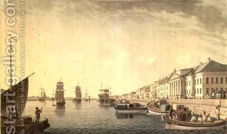 The English Embankment by the Senate, 1801 by Benjamin Patersson - Reproduction Oil Painting