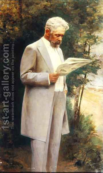 Portrait of the author Nikolay G. Garin 1852-1906 1905 by I Pass - Reproduction Oil Painting