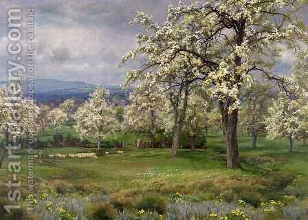 The Pear Orchard, c.1903 by Alfred Parsons - Reproduction Oil Painting