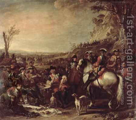 Mounted Dragoons of the Kings Household, 1737 by Charles Parrocel - Reproduction Oil Painting