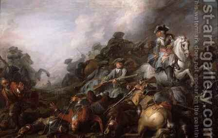 The Cavalry Charge by Charles Parrocel - Reproduction Oil Painting