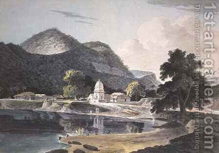 Ramghur in the Boujipoor District by Capt. Frederick Parr - Reproduction Oil Painting