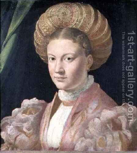 Portrait of a young woman, possibly Countess Gozzadini, c.1530 by Girolamo Francesco Maria Mazzola (Parmigianino) - Reproduction Oil Painting