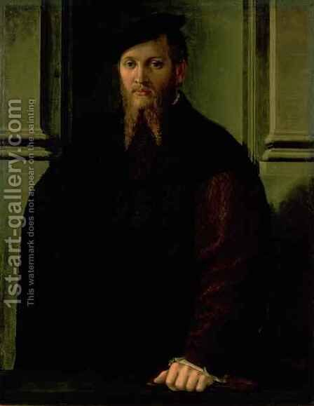 Portrait of a Man 2 by Girolamo Francesco Maria Mazzola (Parmigianino) - Reproduction Oil Painting