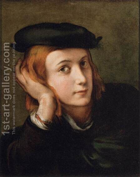 Portrait of a Young Man by Girolamo Francesco Maria Mazzola (Parmigianino) - Reproduction Oil Painting