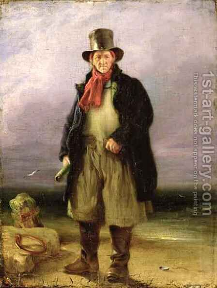 The Old Pilot, 1837 by Henry Perlee Parker - Reproduction Oil Painting
