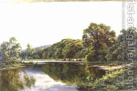 The Thames near Henley by Henry Hillier Parker - Reproduction Oil Painting