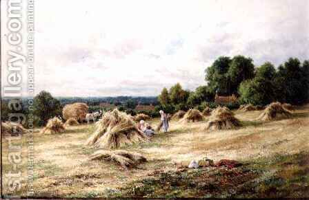 The Harvesters by Henry Hillier Parker - Reproduction Oil Painting
