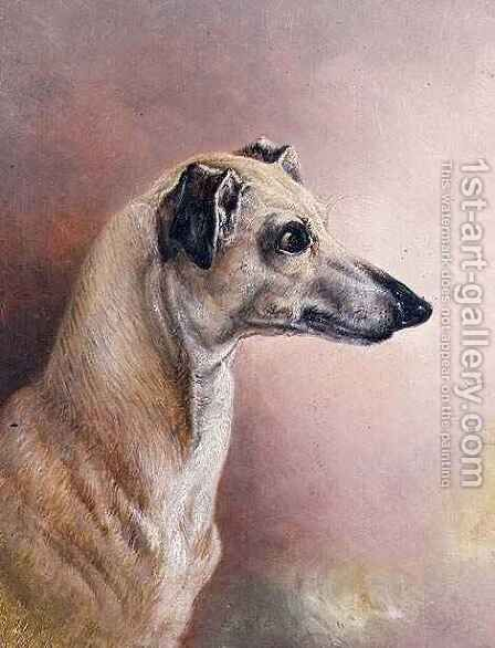 Head of a Greyhound by H. Morley Park - Reproduction Oil Painting
