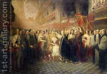 The Coronation of Queen Victoria, 1838 by Edmund Thomas Paris - Reproduction Oil Painting