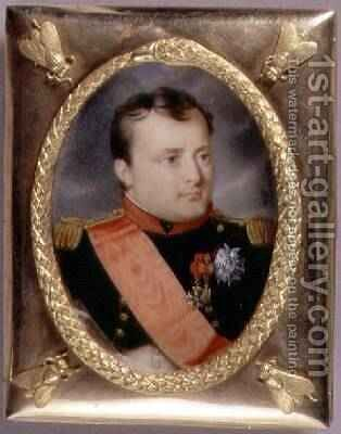 Portrait Miniature of Napoleon Bonaparte 1769-1821 1815 by J. Parent - Reproduction Oil Painting