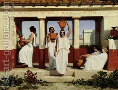 Greek Women at the Fountain, 1841 by Dominique Louis Papety - Reproduction Oil Painting