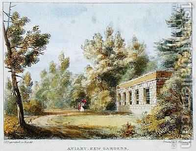 Aviary, Kew Gardens, plate 10 from Kew Gardens A Series of Twenty-Four Drawings on Stone, engraved by Charles Hullmandel 1789-1850 published 1820 by (after) Papendiek, George Ernest - Reproduction Oil Painting