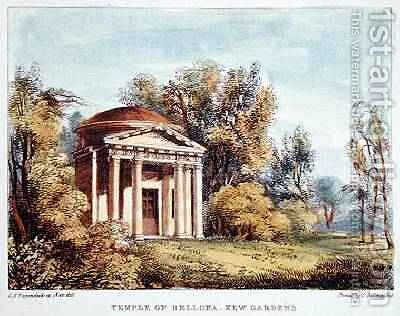 Temple of Bellona, Kew Gardens, plate 24 from Kew Gardens A Series of Twenty-Four Drawings on Stone, engraved by Charles Hullmandel 1789-1850 published 1820 by (after) Papendiek, George Ernest - Reproduction Oil Painting