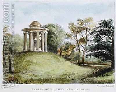 Temple of the Sun, Arboretum, Kew Gardens, plate 20 from Kew Gardens A Series of Twenty-Four Drawings on Stone, engraved by Charles Hullmandel 1789-1850 published 1820 by (after) Papendiek, George Ernest - Reproduction Oil Painting
