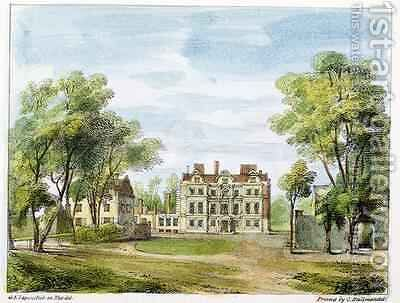 South Front, Old Palace, Kew Gardens, plate 2 from Kew Gardens A Series of Twenty-Four Drawings on Stone, engraved by Charles Hullmandel 1789-1850 published 1820 by (after) Papendiek, George Ernest - Reproduction Oil Painting