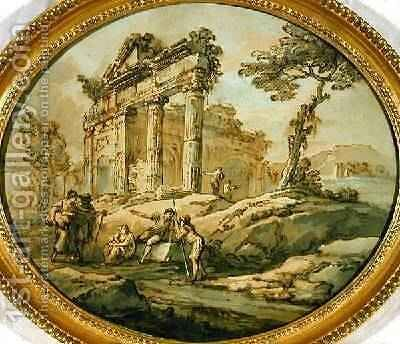 Architectural Ruins 2 by Giovanni Paolo Panini - Reproduction Oil Painting