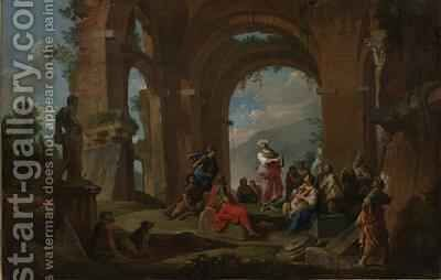 The Cumaean Sibyl Delivering the Oracles, c.1741 by Giovanni Paolo Panini - Reproduction Oil Painting