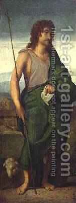 St. John the Baptist by Jacopo d'Antonio Negretti (see Palma Vecchio) - Reproduction Oil Painting